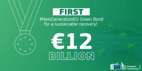 La CE recauda 12.000 millones para inversiones sostenibles con la primera emisión de bonos verdes